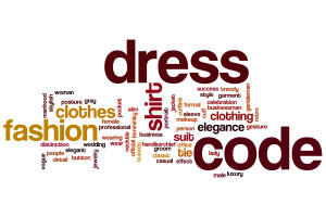 Dress code word cloud concept