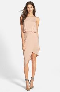 beige asymmetrical dress nordstrom