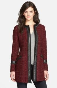 marsala tweed coat nordstrom
